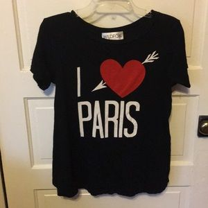 Wildfox black tee ❤️ Paris ❤️